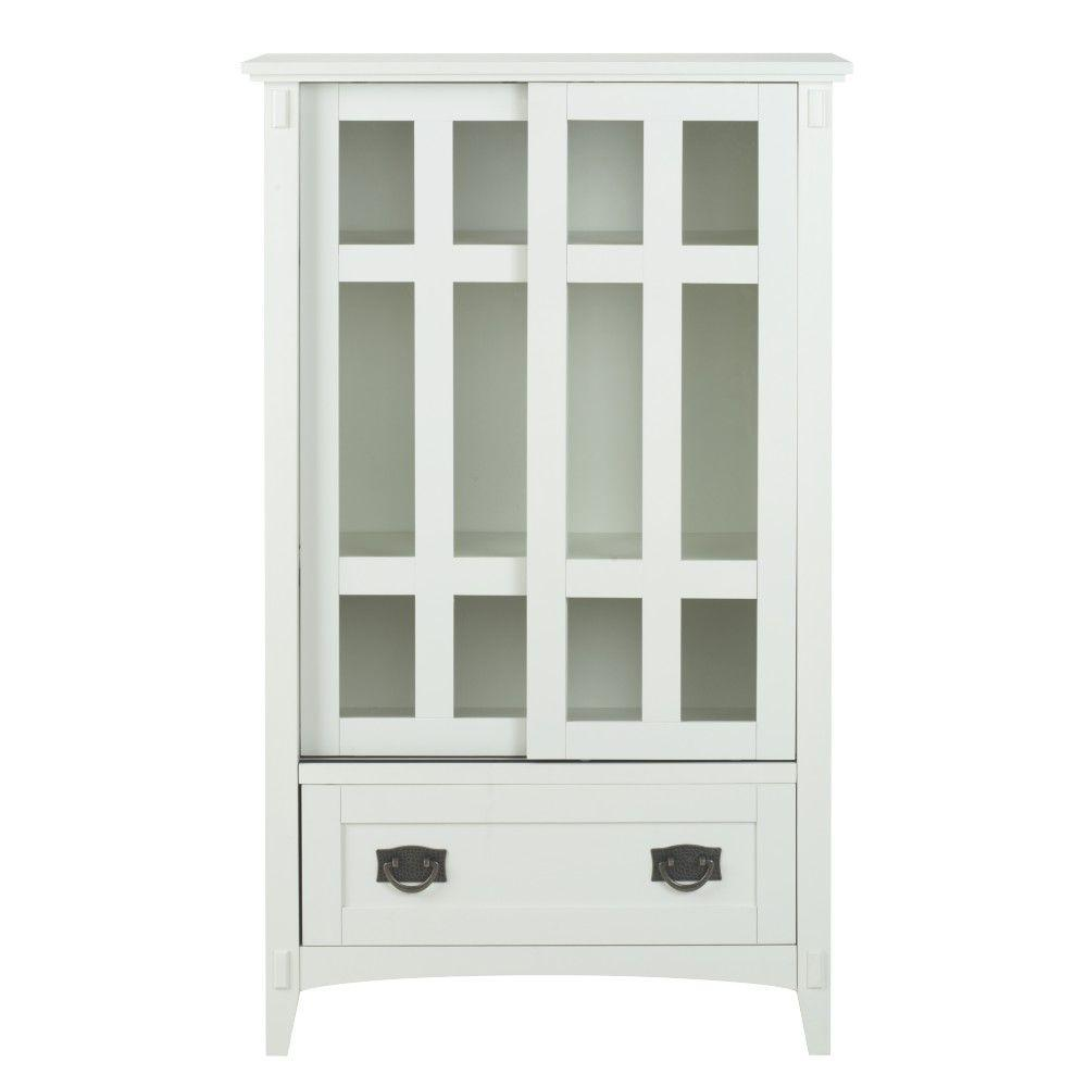 Home Decorators Collection Artisan White Storage Cabinet 9224500410 The Hom