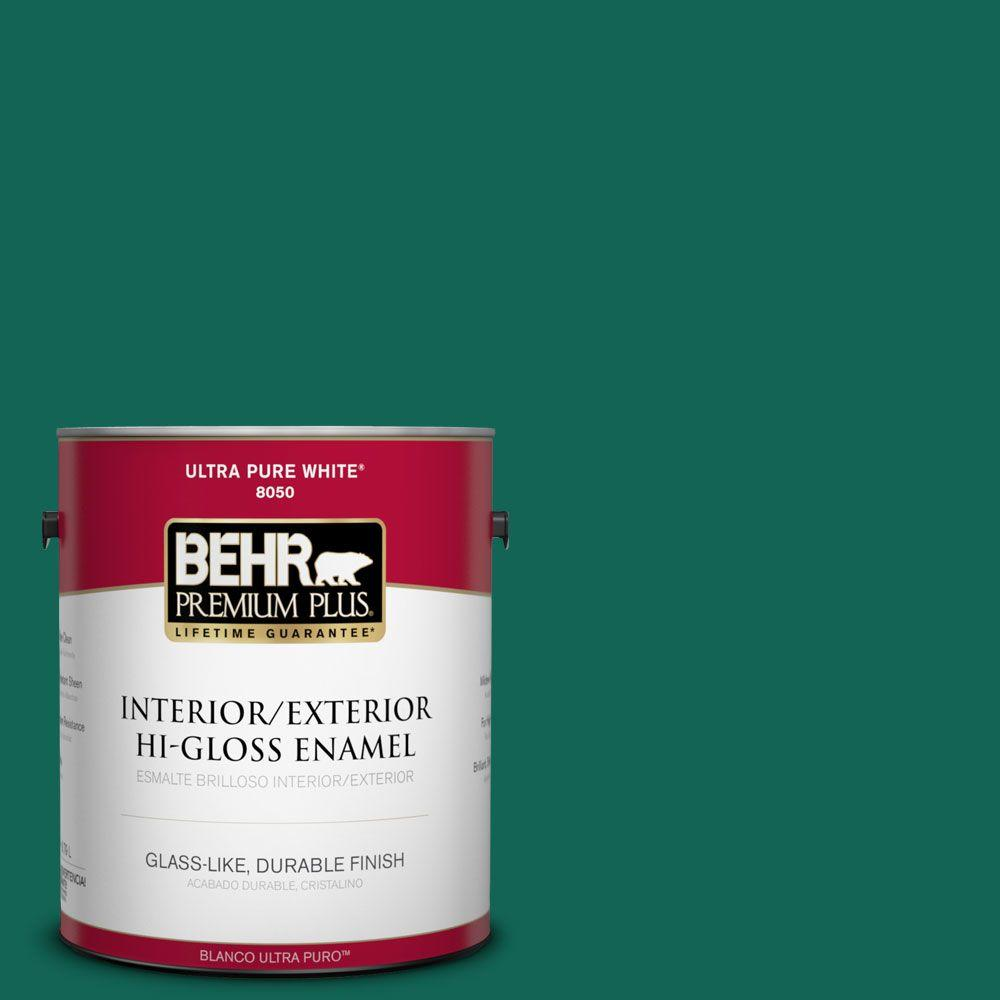 1-gal. #S-H-480 Forest Rain Hi-Gloss Enamel Interior/Exterior Paint