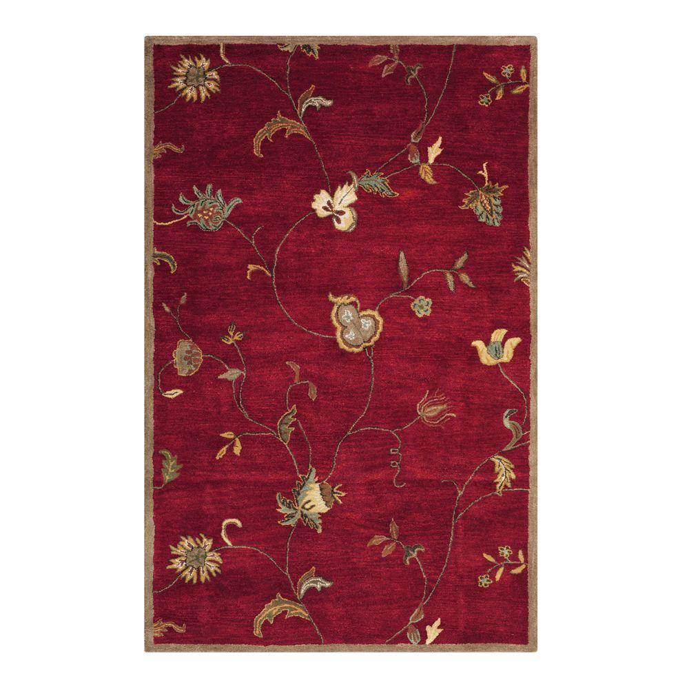 Home Decorators Collection Lenore Red 4 ft. x 6 ft. Area Rug