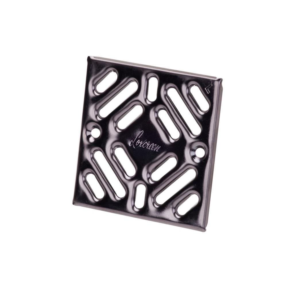 M-D Building Products Prova Drain Accessory Grate-TT8014BLK01 - The Home Depot