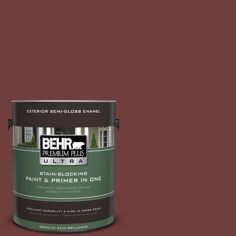 BEHR Premium Plus Ultra 1-gal. #ECC-27-1 Red Pines Semi-Gloss Enamel Exterior