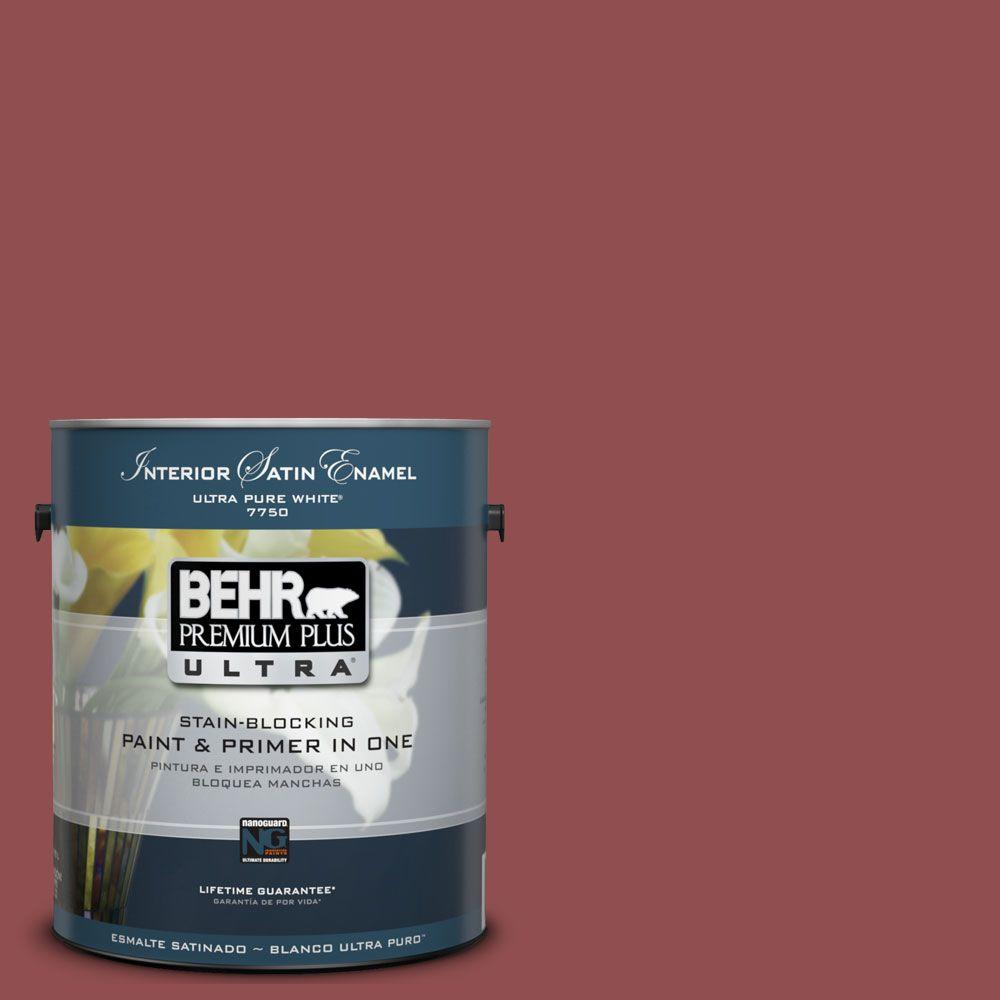 1-Gal. #UL110-17 Pompeian Red Interior Satin Enamel Paint-DISCONTINUED