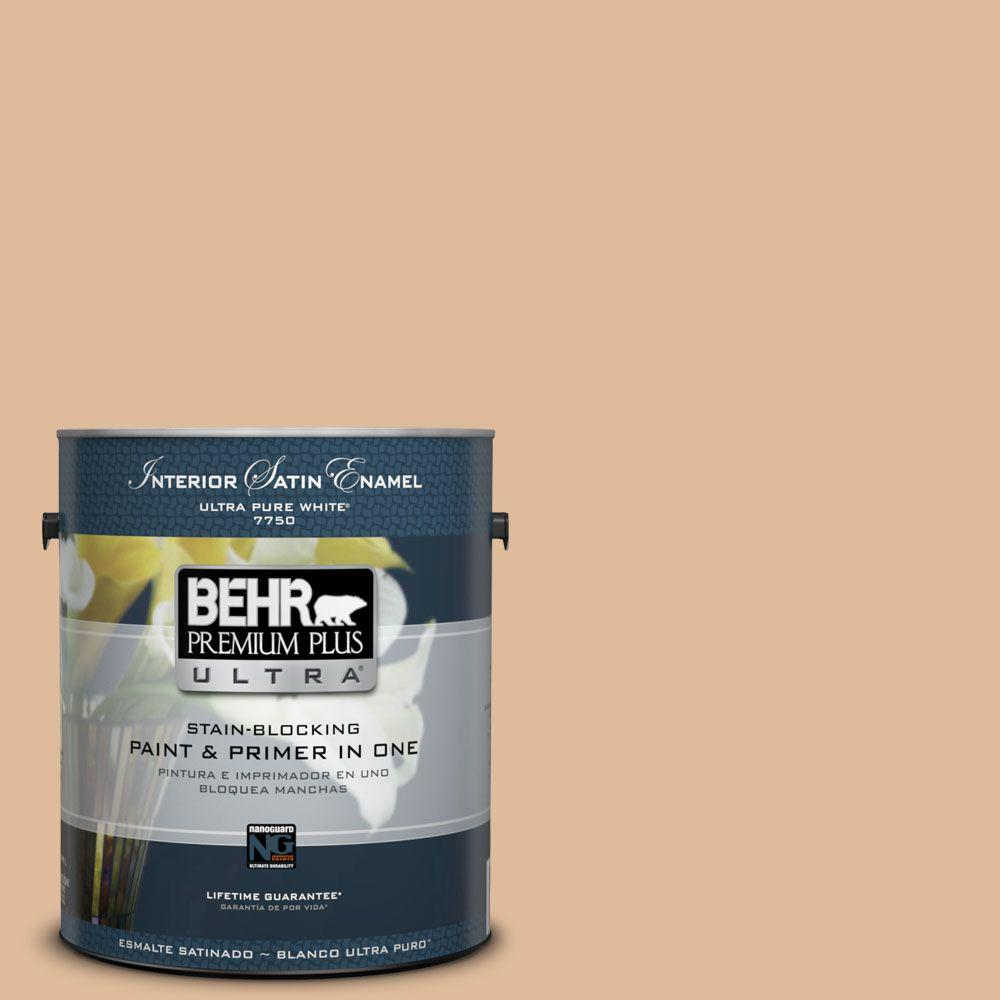 1-gal. #270E-3 Only Natural Satin Enamel Interior Paint
