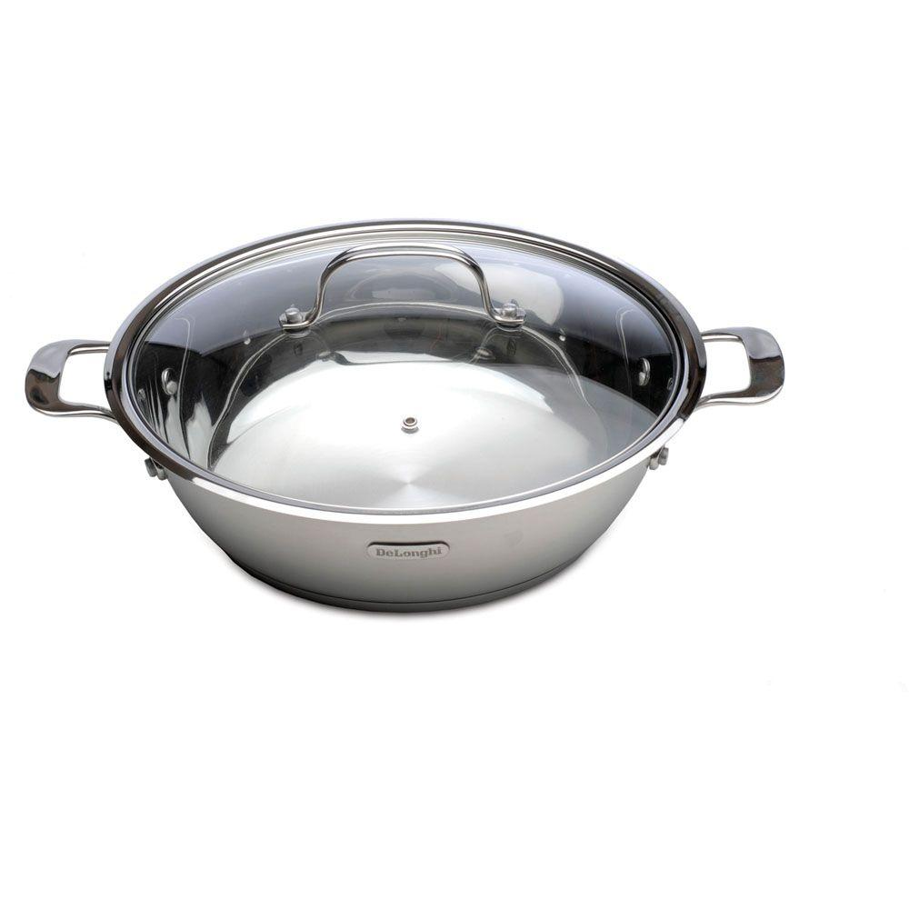 DeLonghi 5.5 qt. Stainless Steel Cook and Serve Pan