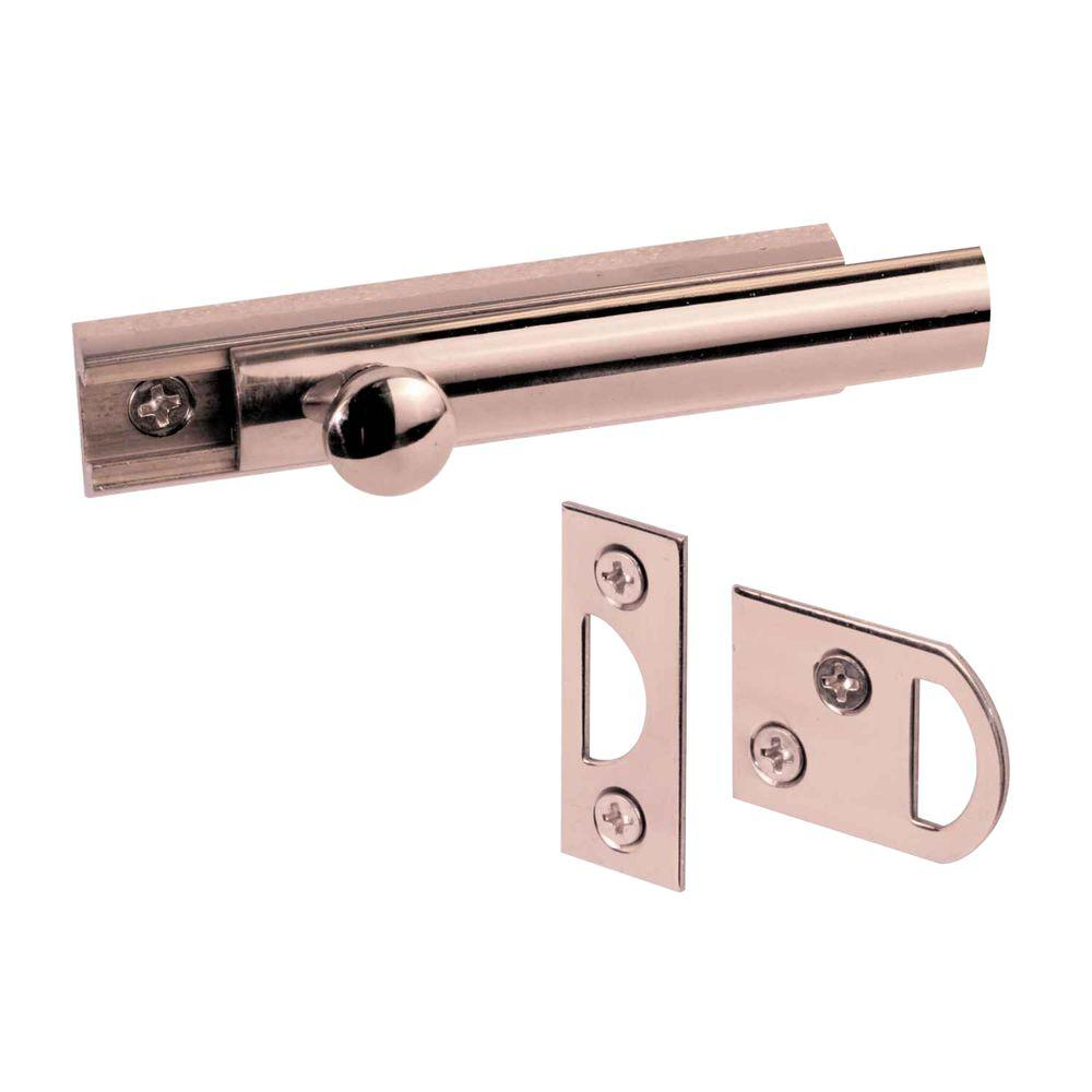 Prime-Line 3 in. Solid Brass Surface Bolt
