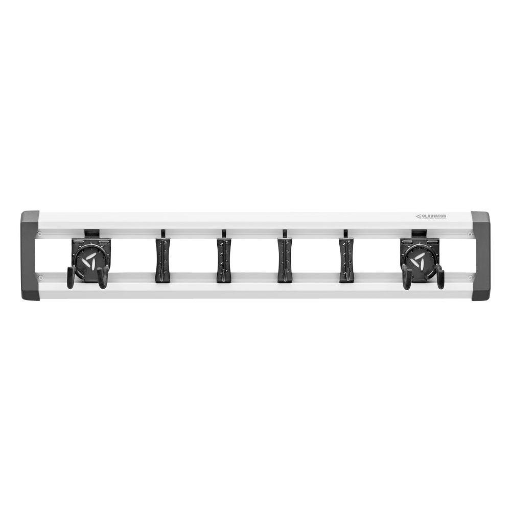 32 in. L GearTrack Garage Track Storage System with 6-Hooks