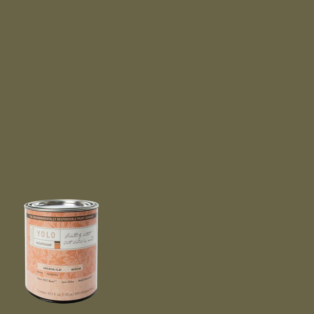 YOLO Colorhouse 1-Qt. Glass .06 Flat Interior Paint-DISCONTINUED