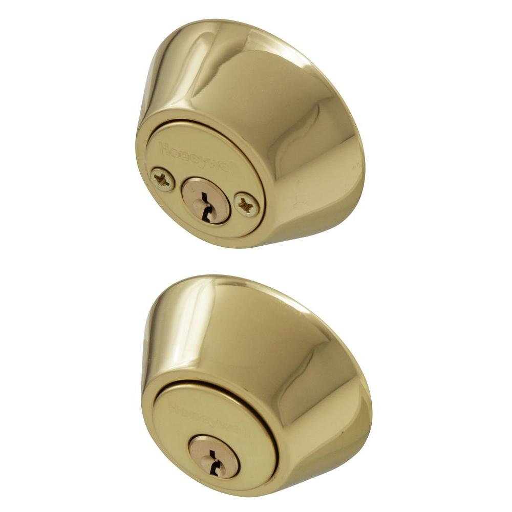 Double Cylinder Polished Brass Deadbolt