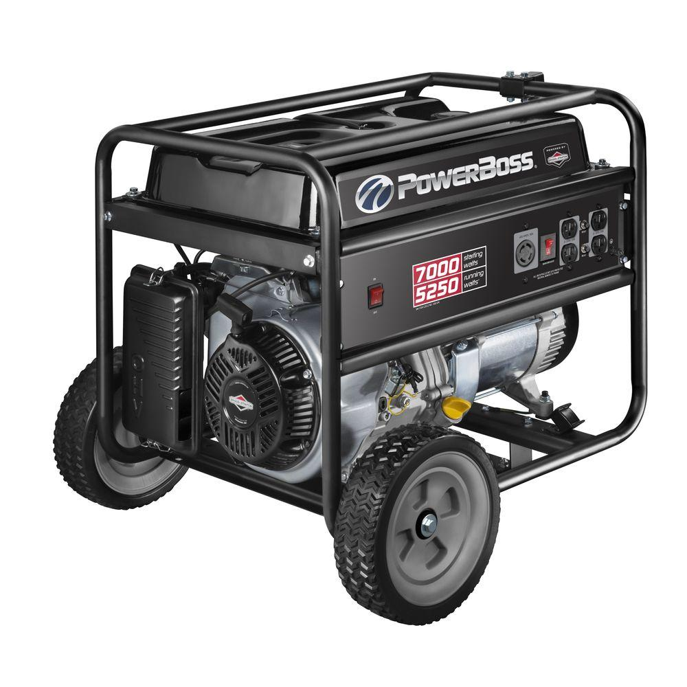 5,250-Watt Gasoline Powered Recoil Start Portable Generator with Briggs &