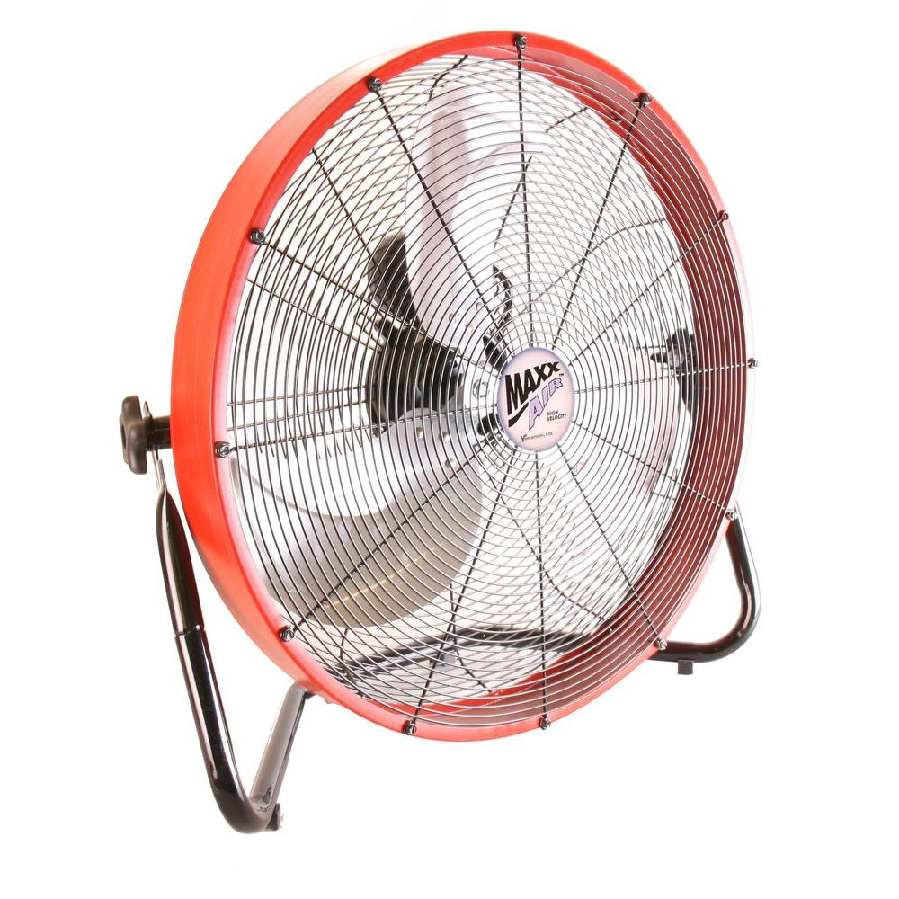 MaxxAir 20 in. Floor Shroud Fan-HVFF 20S REDUPS - The Home