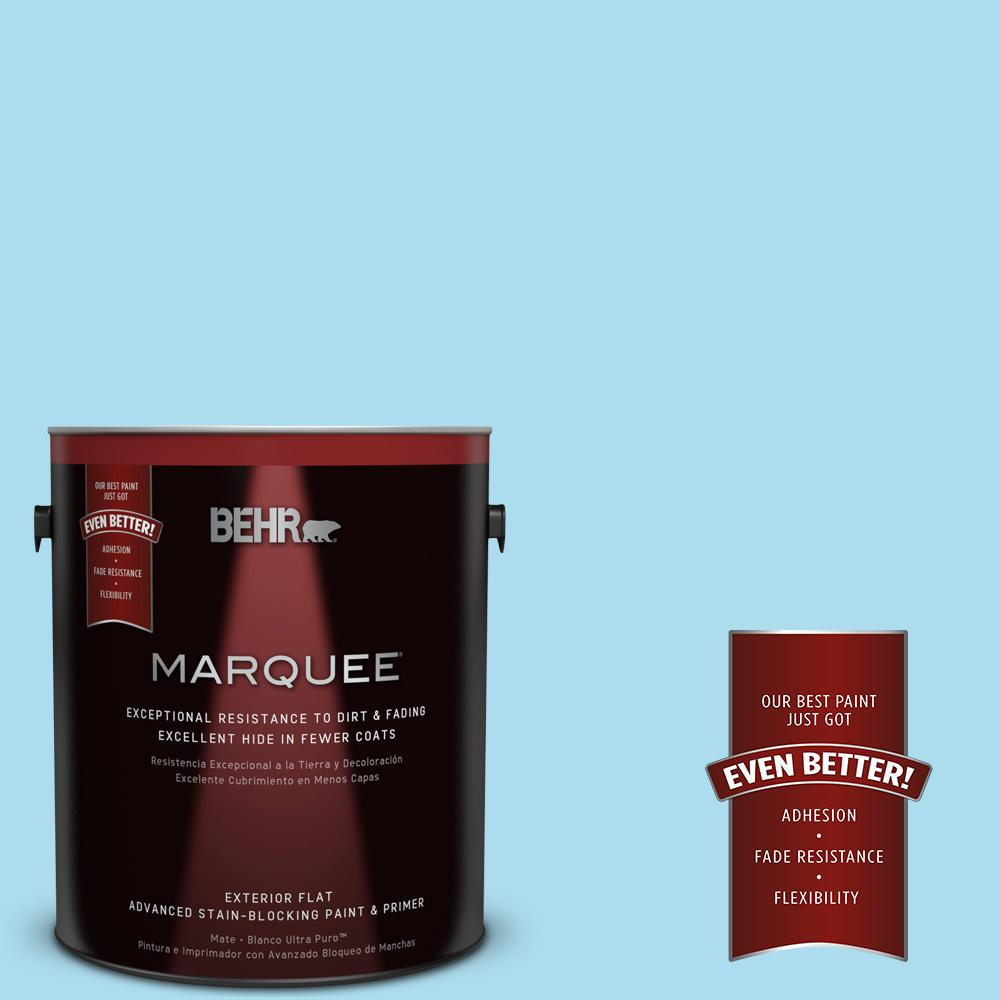 BEHR MARQUEE 1-gal. #530A-3 Frosty Glade Flat Exterior Paint