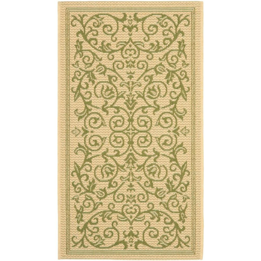Courtyard Natural/Olive (Natural/Green) 2 ft. 7 in. x 5 ft. Indoor/Outdoor Area Rug Sale $23.61 SKU: 204829369 ID: CY2098-1E01-3 UPC: 683726285090 :