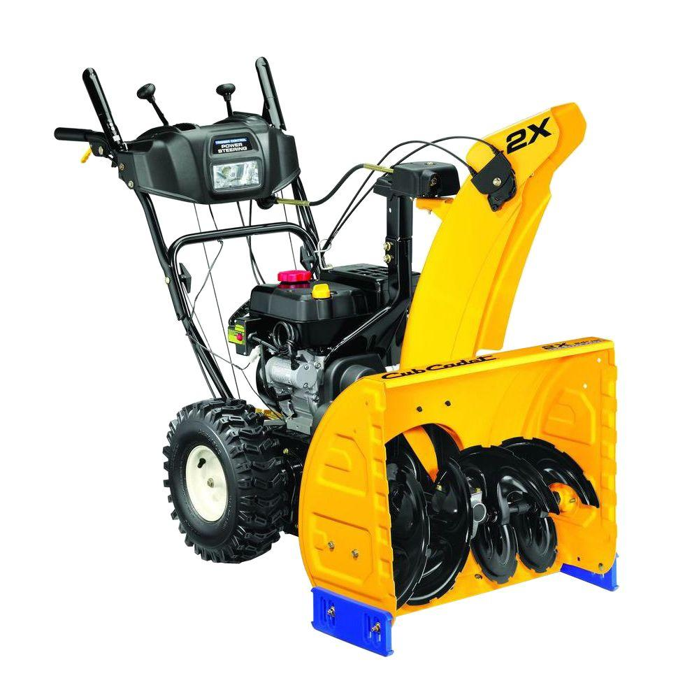 2X 24 in. 208cc Two-Stage Electric Start Gas Snow Blower with