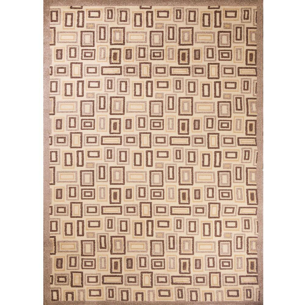 Mooresville Rectangles Ivory 7 ft. 10 in. x 10 ft. 6