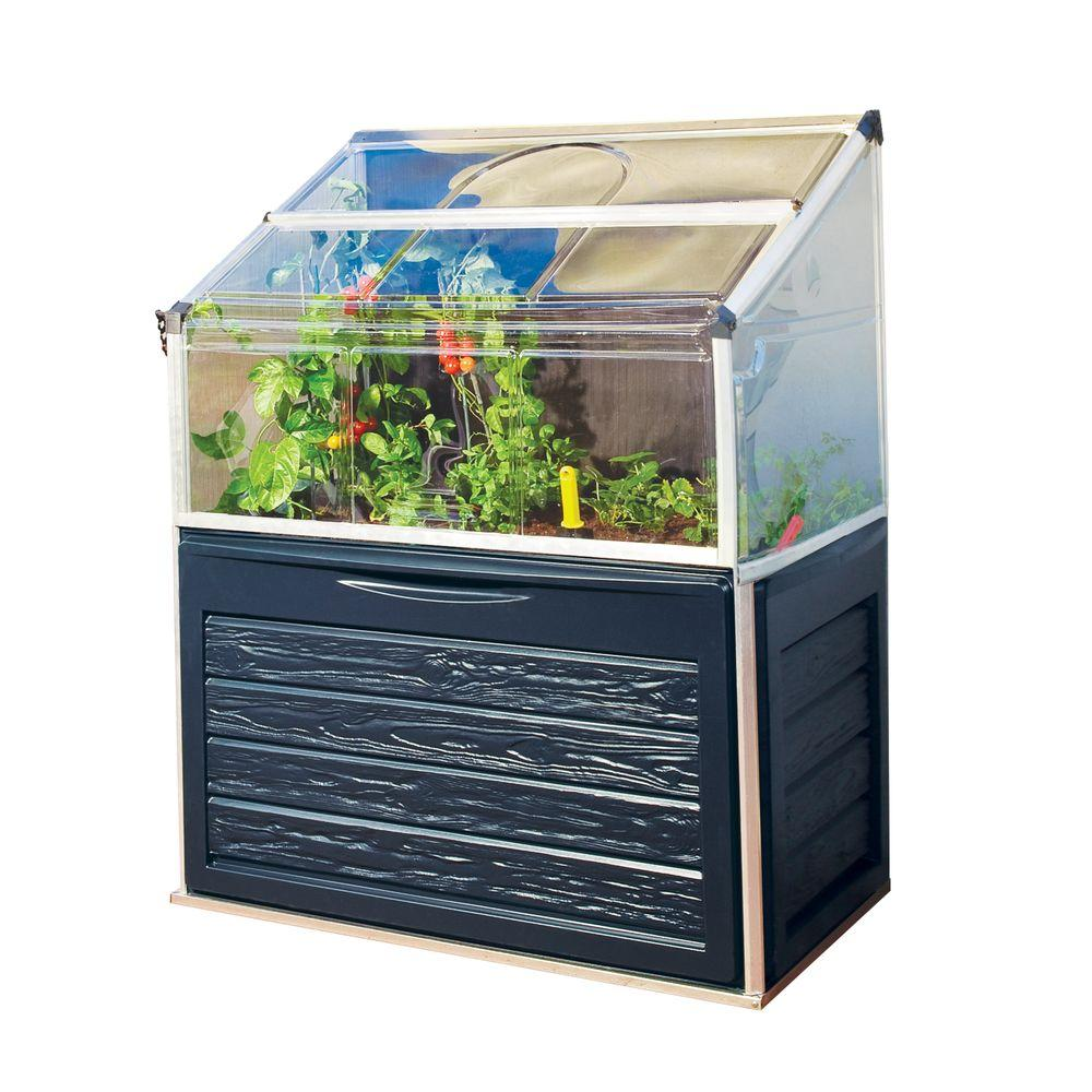 Palram Plant Inn Compact 2 ft. x 4 ft. Polycarbonate Greenhouse