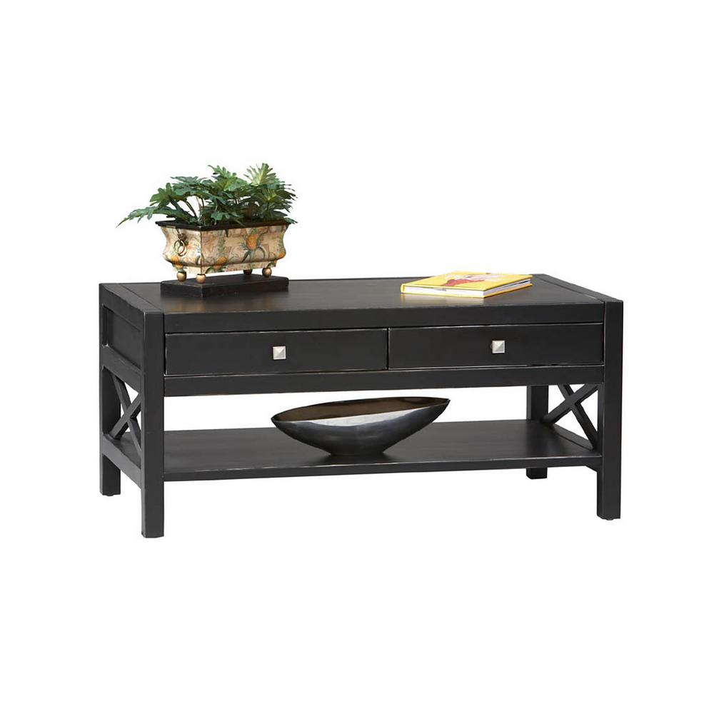 Home Decorators Collection Anna Black Coffee Table