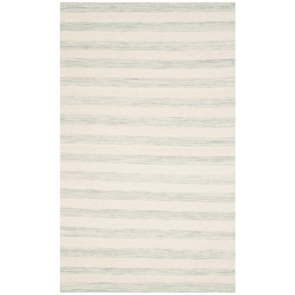 Dhurries Light Blue/Ivory 3 ft. x 5 ft. Area Rug