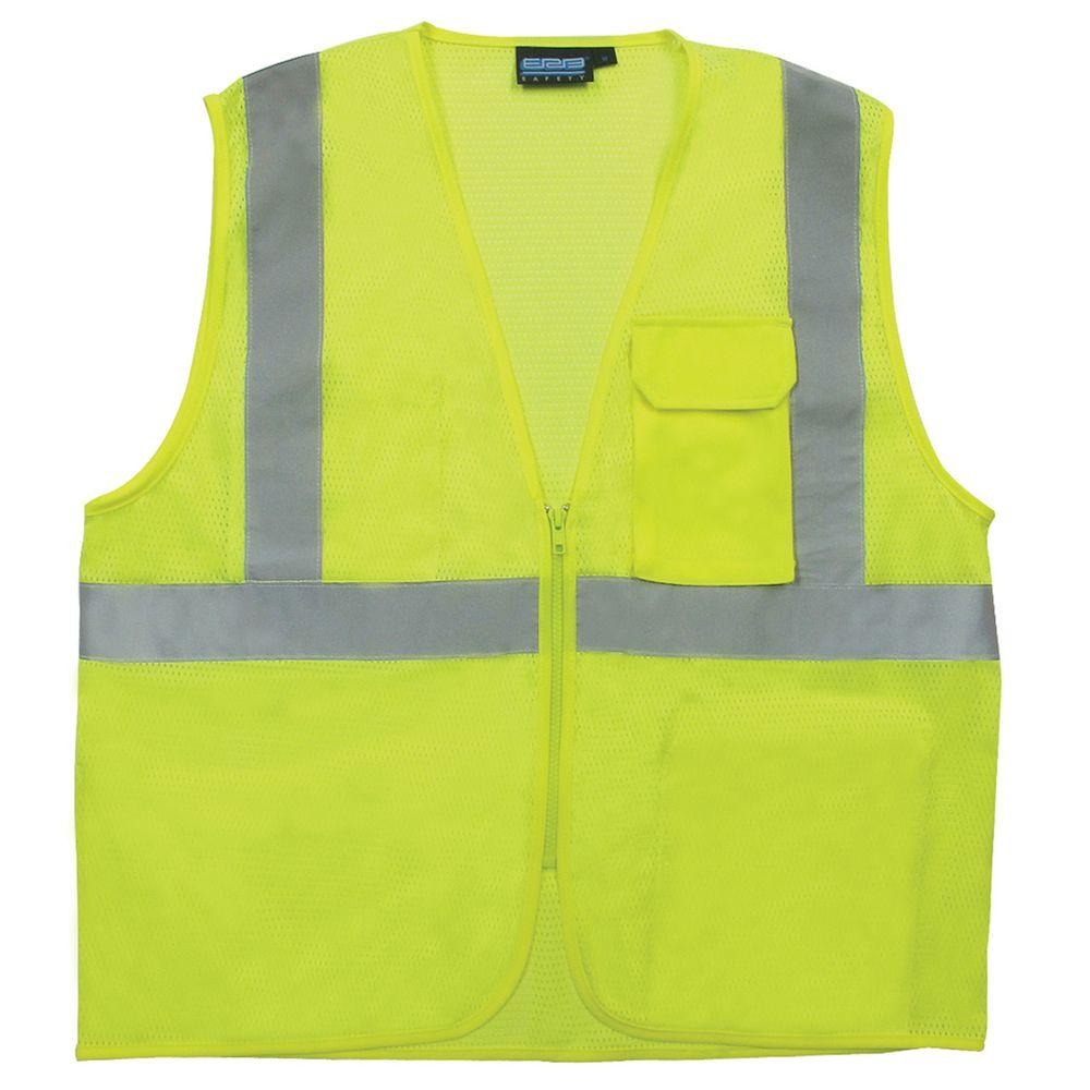S169 4X Class 2 Surveyor/Multipocket Poly Mesh Hi Viz Lime Vest