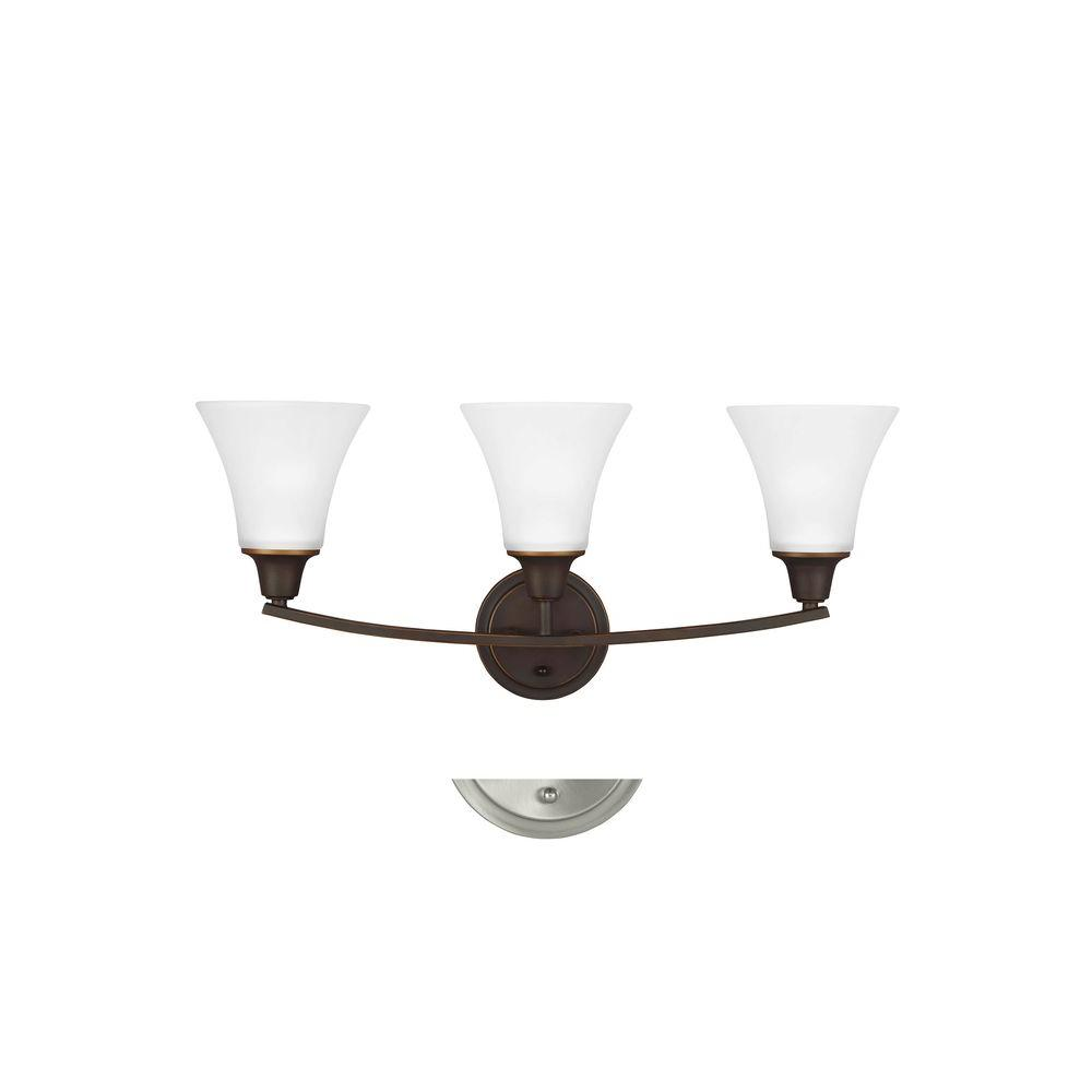 Metcalf 3-Light Autumn Bronze Wall Sconce