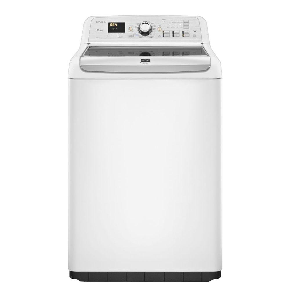 Maytag Bravos XL 4.8 cu. ft. High-Efficiency Top Load Washer with Steam in White, ENERGY STAR