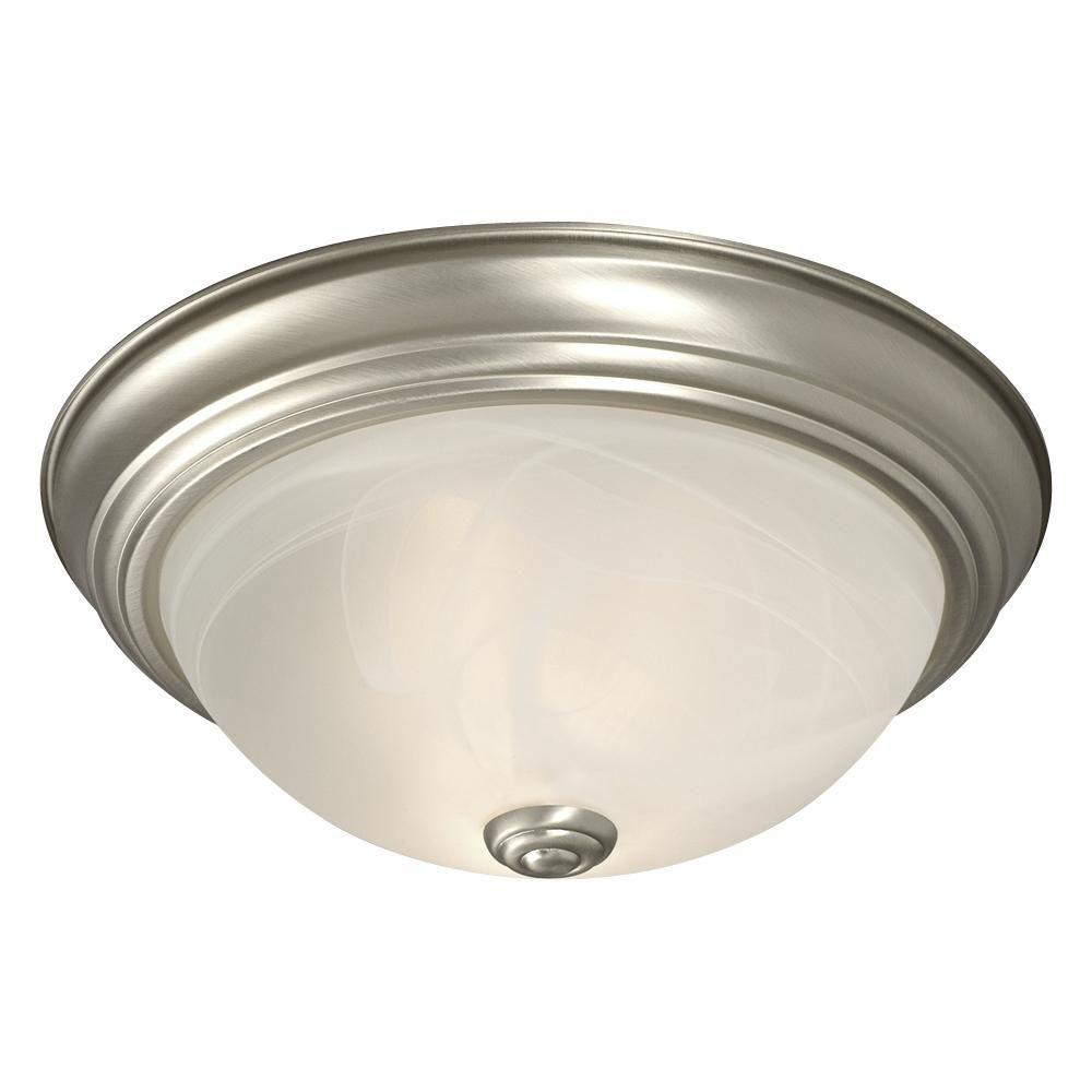 Filament Design Negron 2-Light Pewter Incandescent Flush Mount-CLI-XY5197307 -