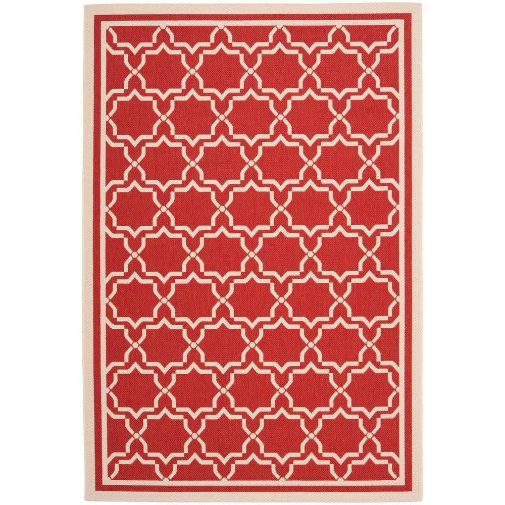 Courtyard Red/Bone 6 ft. 7 in. x 9 ft. 6 in.