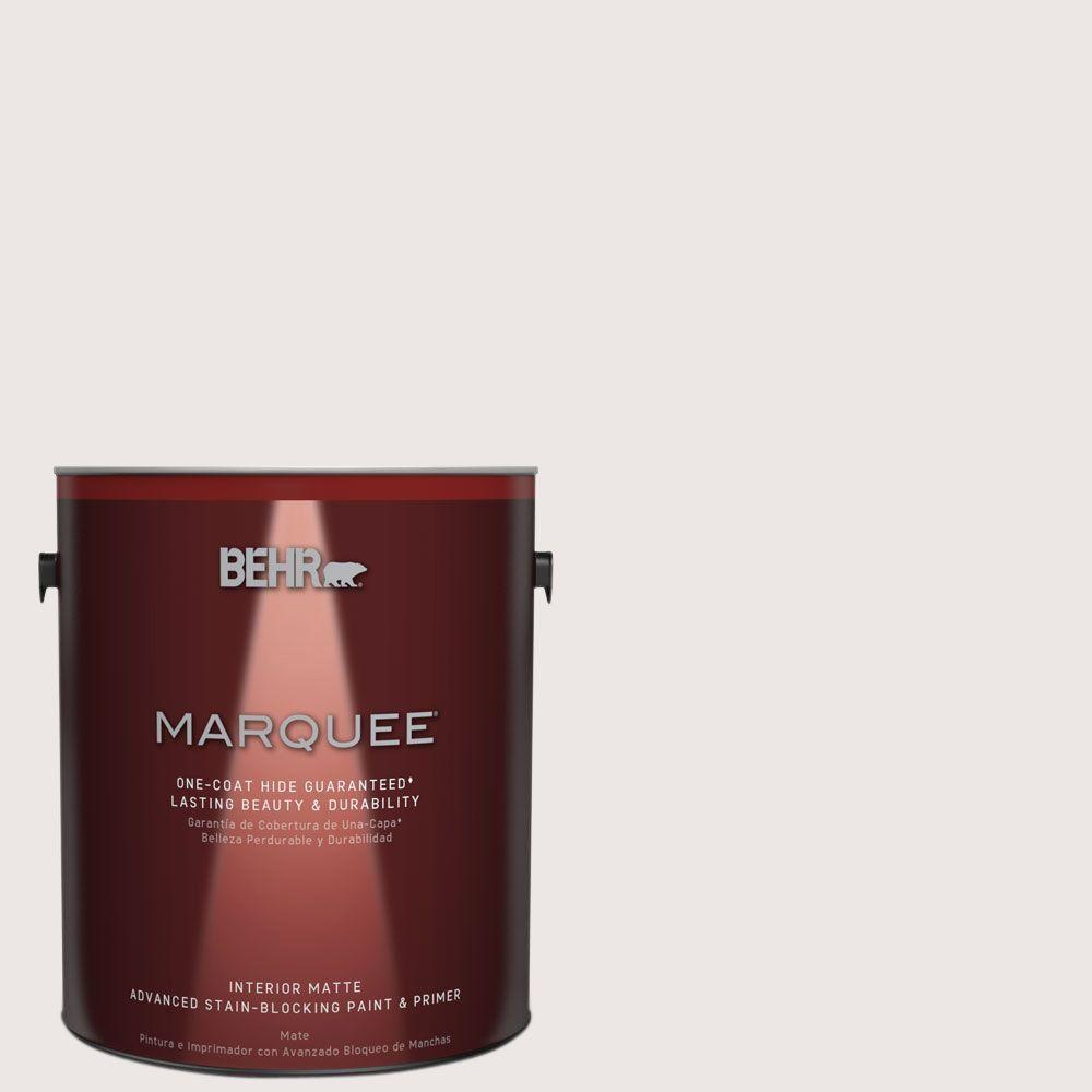 BEHR MARQUEE 1 gal. #MQ3-32 Cameo White One-Coat Hide Matte Interior Paint