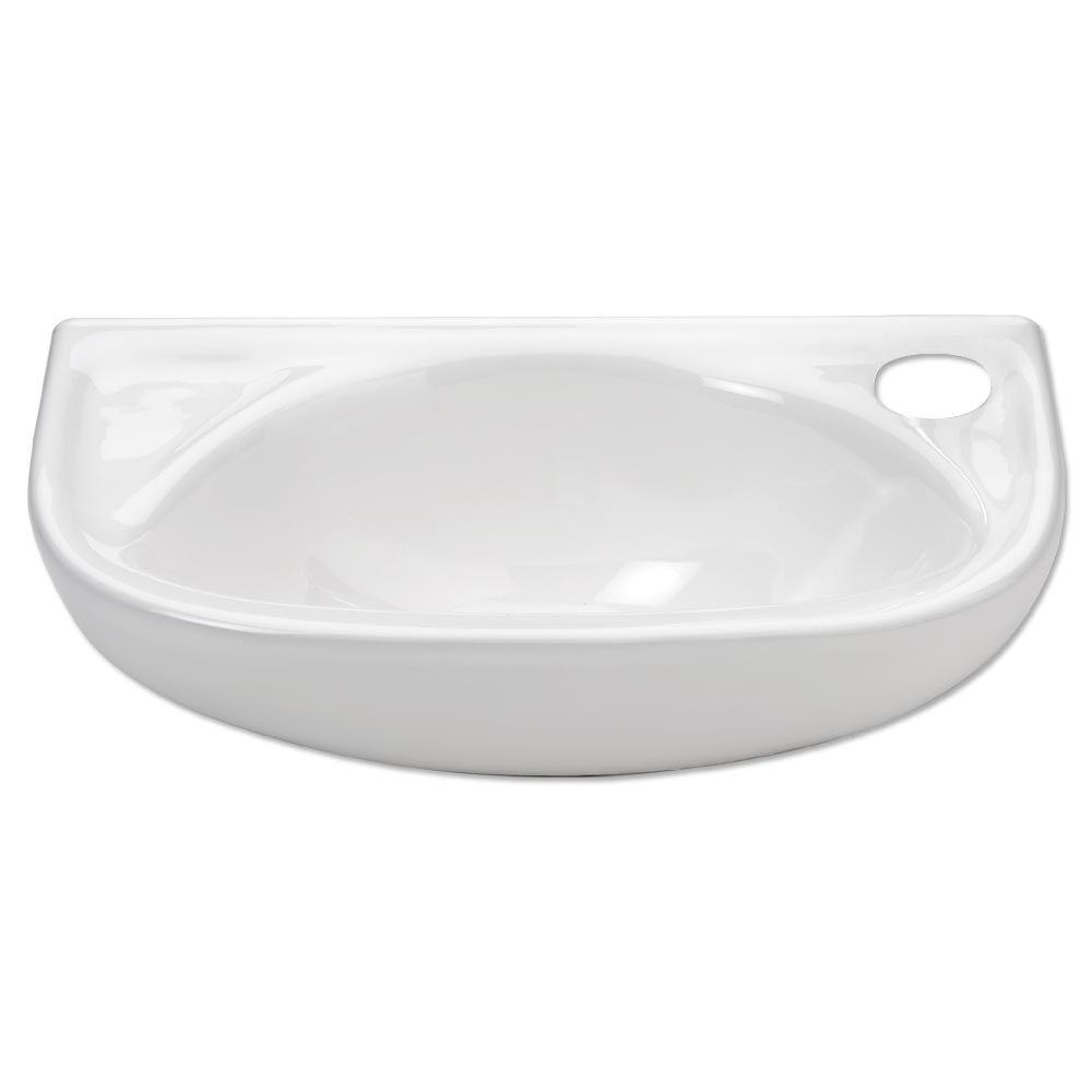 Isabella Wall-Mounted Bathroom Sink in White
