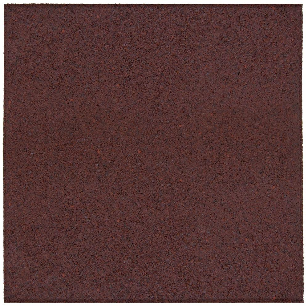 18 in. x 18 in. Terra Cotta Rubber Flat Profile Paver