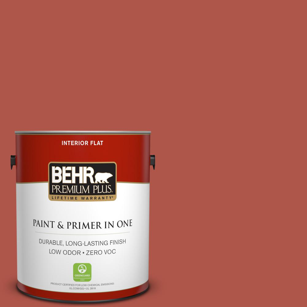 1 gal. #PPU2-14 Tibetan Orange Zero VOC Flat Interior Paint