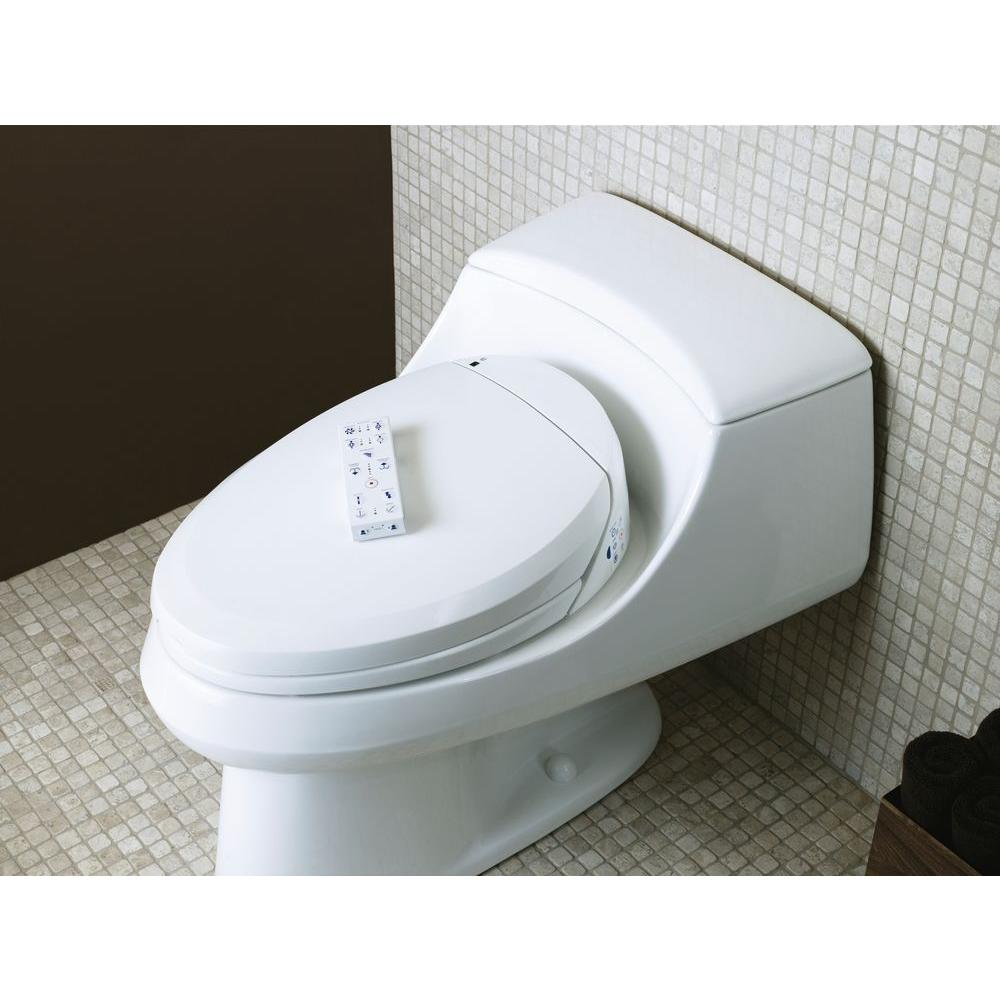 KOHLER C3-200 Electric Bidet Seat for Elongated Toilets in White with  In-Line Heater-K-4709-0 - The Home Depot