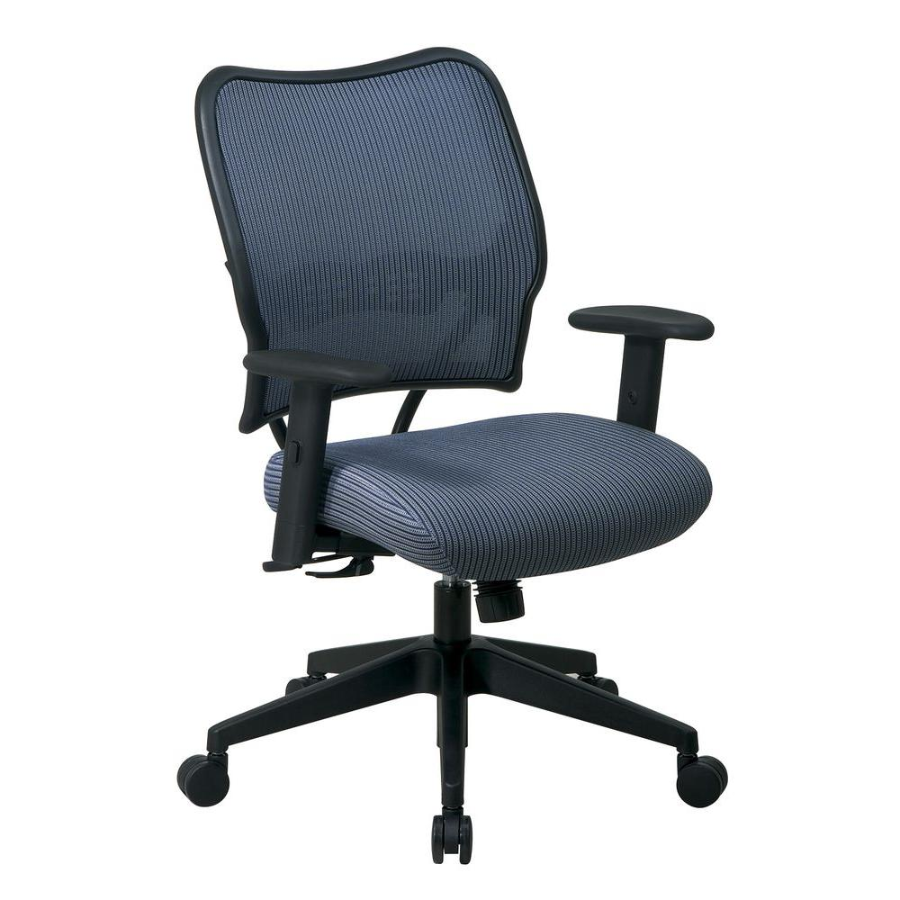 Office Star Deluxe VeraFlex Back/Seat Office Chair in Blue-13-V77N1WA - The
