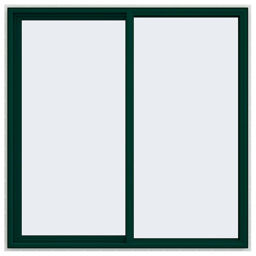 59.5 in. x 59.5 in. V-4500 Series Left-Hand Sliding Vinyl Window