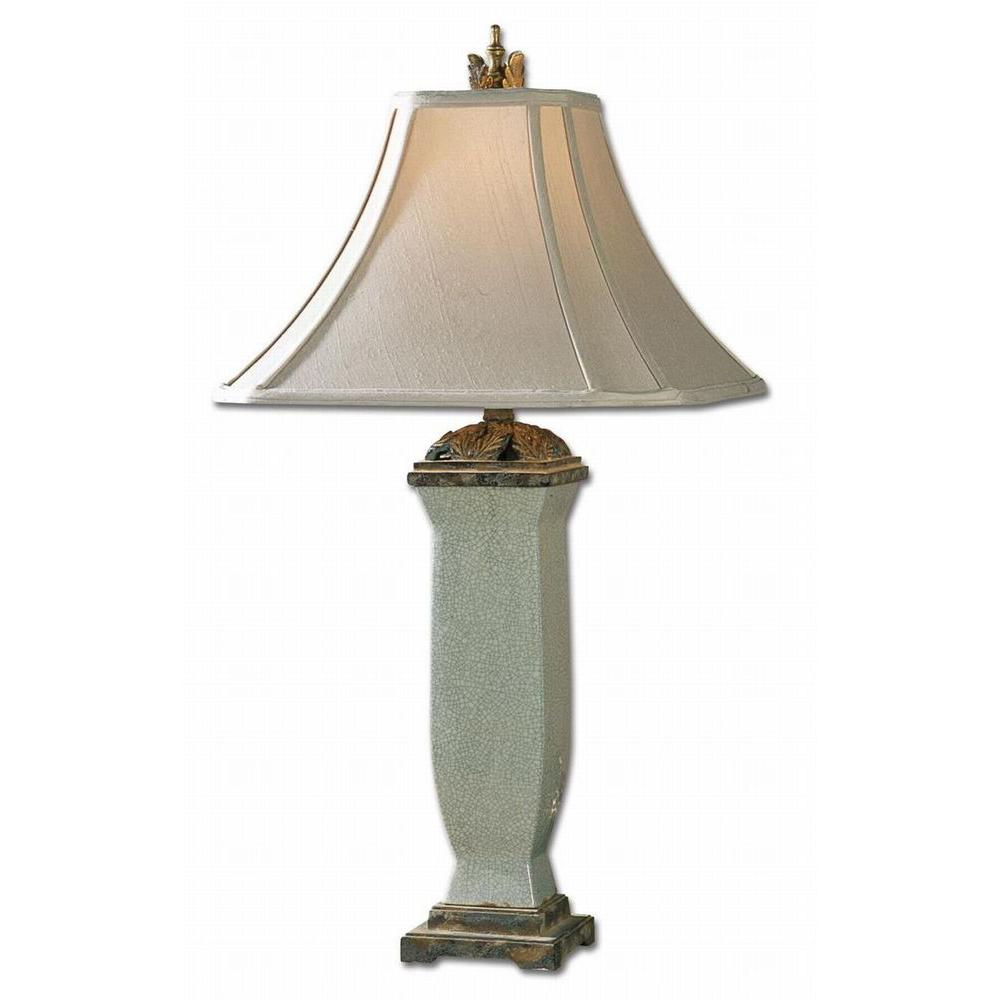 32 in. Light Blue Table Lamp