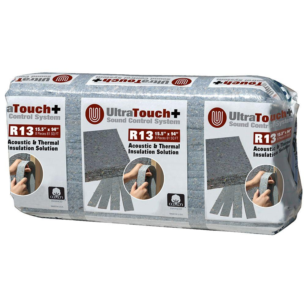 UltraTouch 15.5 in. x 94 in. R13 Sound Control System Insulation (12-Bags)