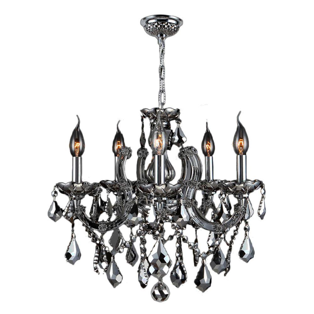 Worldwide Lighting Catherine 8-Light Chrome and Chrome Crystal Chandelier