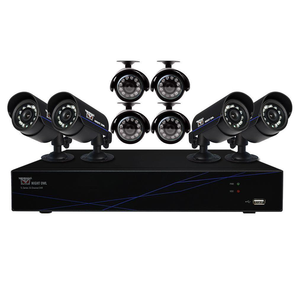 Night Owl Optics 16-Channel 960H Security System with 500...
