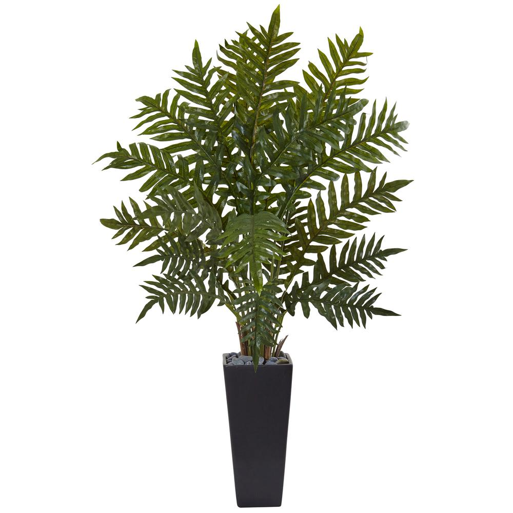 Indoor Evergreen Trees: Nearly Natural Indoor Evergreen Artificial Plant In Black