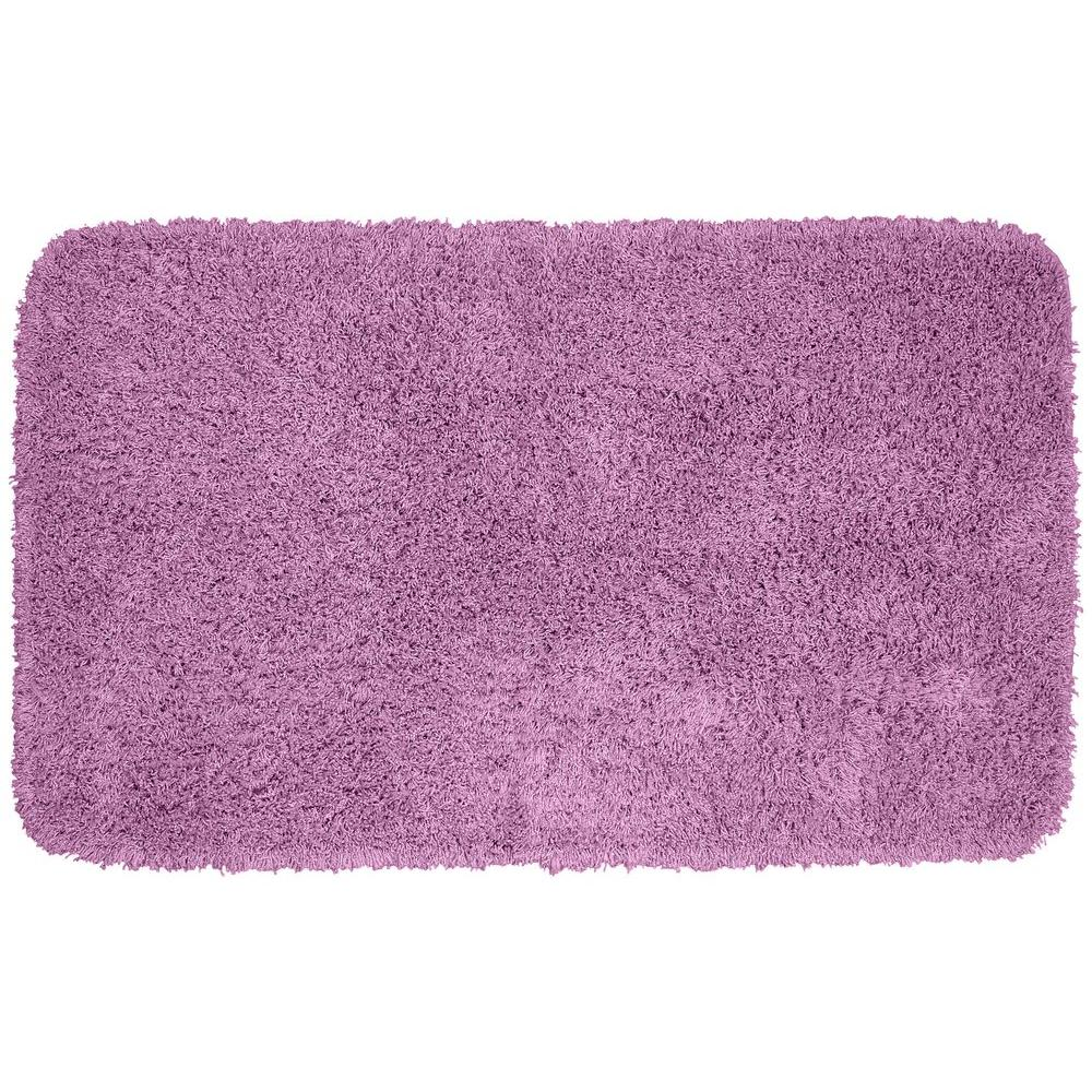 Garland rug jazz purple 30 in x 50 in washable bathroom for Rugs with purple accents