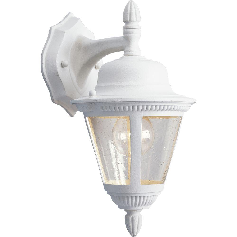 This review is fromWestport Collection 1-Light White Outdoor Wall Mount Lantern  sc 1 st  The Home Depot & Progress Lighting Westport Collection 1-Light Outdoor Textured ... azcodes.com