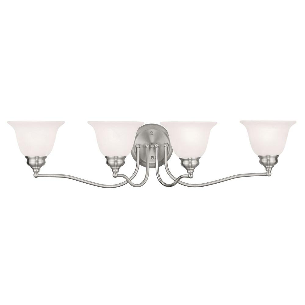 Providence 4-Light Brushed Nickel Incandescent Wall Vanity Light