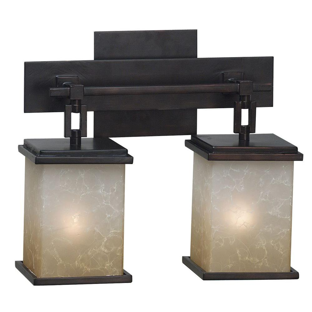 Plateau 2-Light Oil Rubbed Bronze Vanity Light