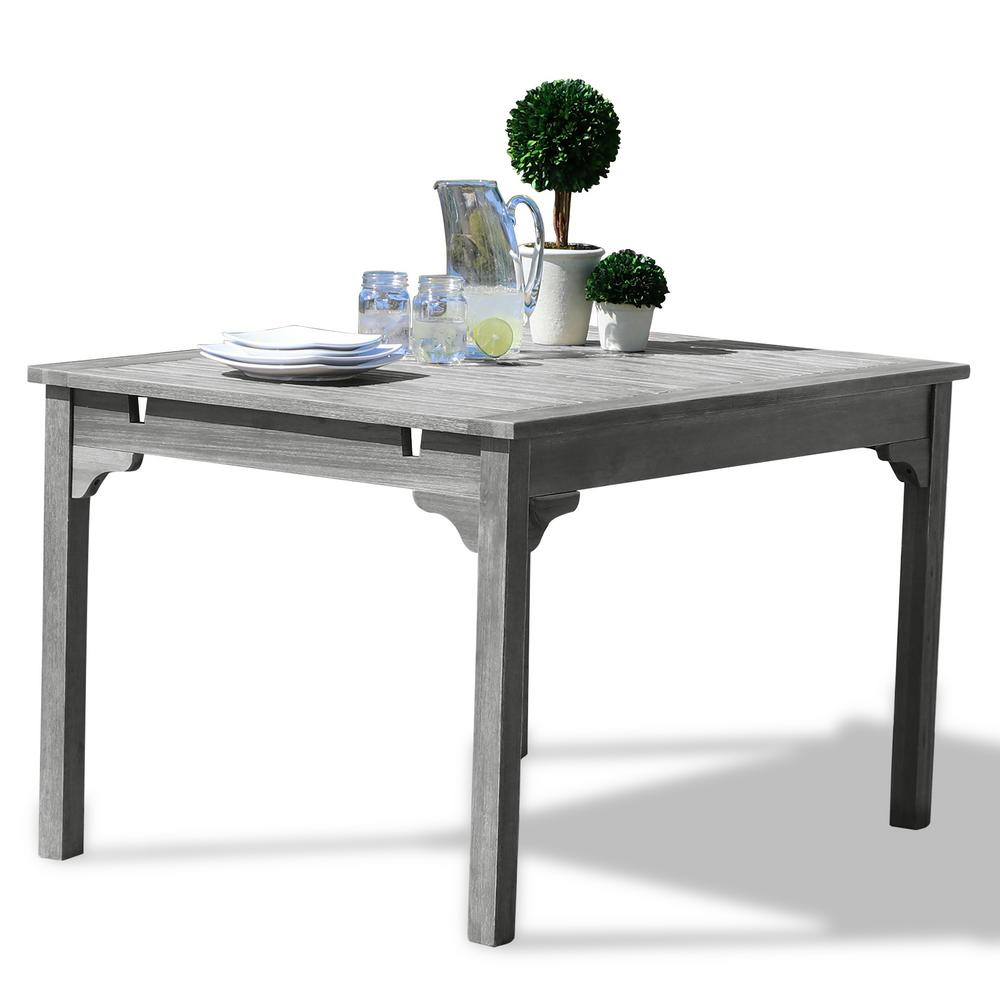 vifah renaissance rectangular patio dining table v1626 the home depot. Black Bedroom Furniture Sets. Home Design Ideas