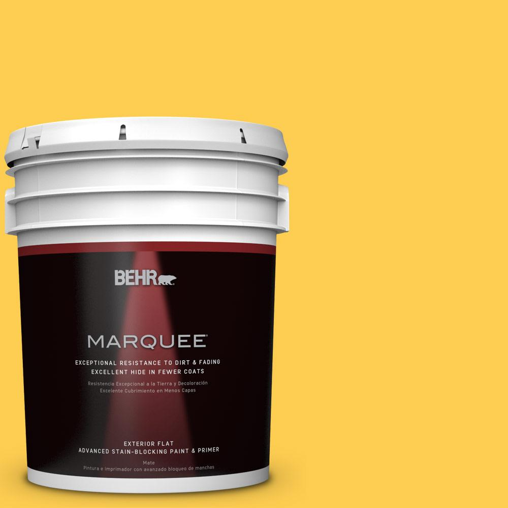 BEHR MARQUEE 5 gal. #T16-05 Canary Diamond Matte Exterior Paint-445305 -