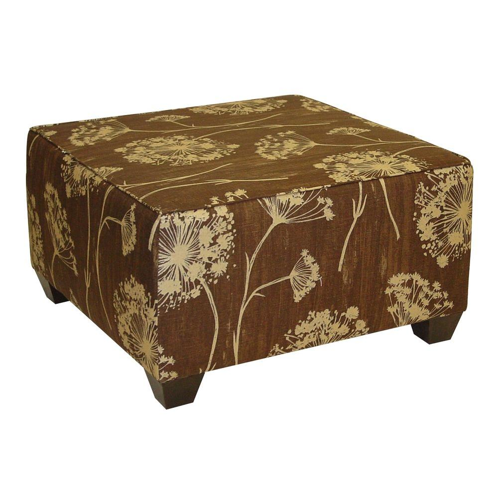 Home Decorators Collection Lace Square Chocolate Cocktail Ottoman