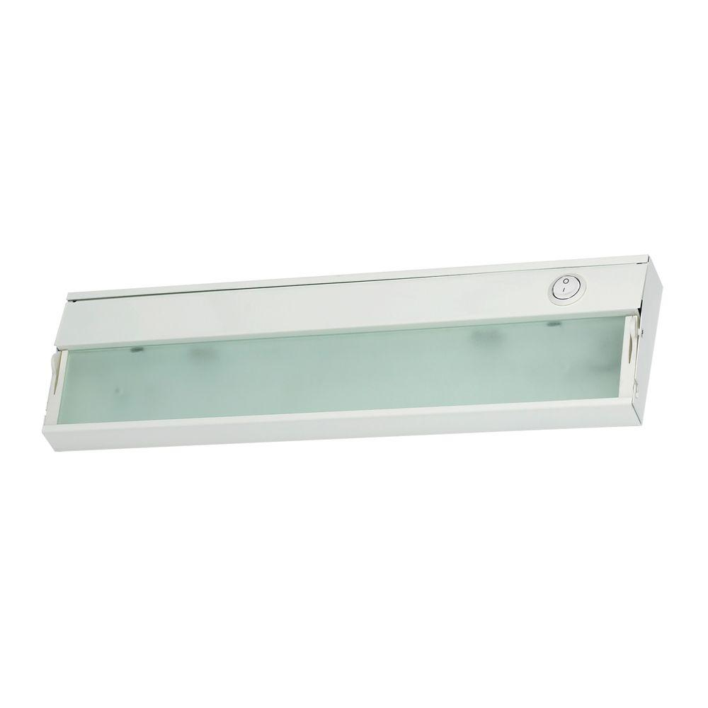 Elite Under Counter Lighting: ZeeLite 1-Lamp White Under Cabinet Light With Diffused
