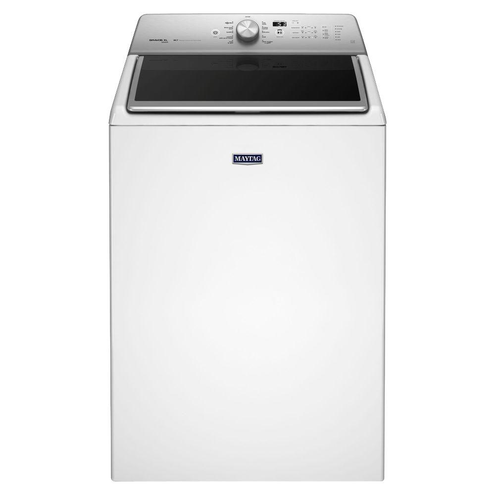 5.3 cu. ft. High-Efficiency Top Load Washer with Steam in White,