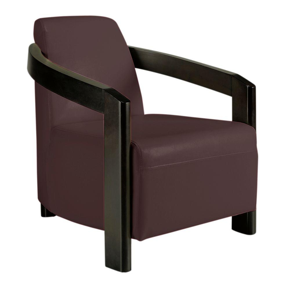 Home Decorators Collection Cowel Brown Bonded Leather Arm Chair