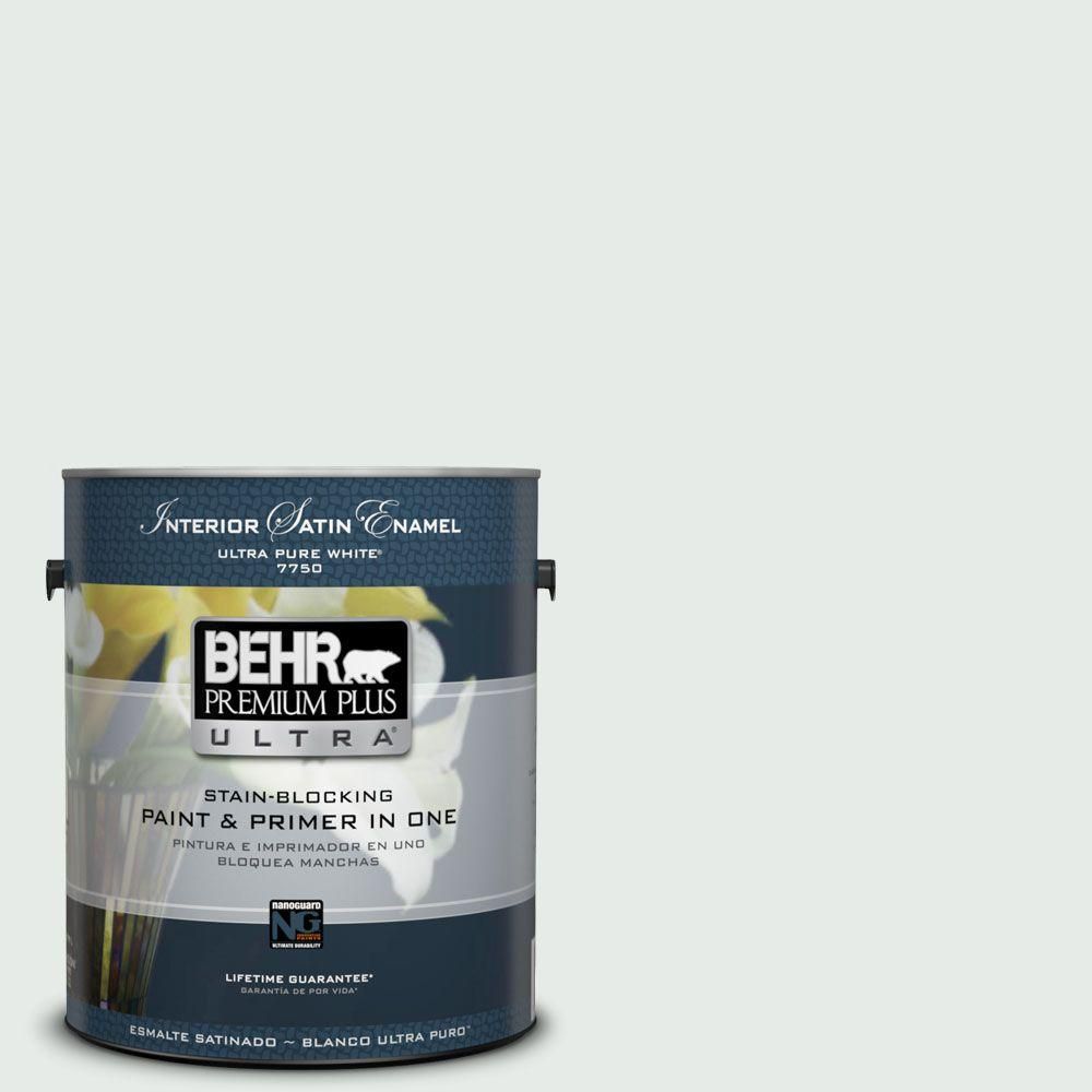 1-gal. #BL-W8 Frothy Surf Satin Enamel Interior Paint