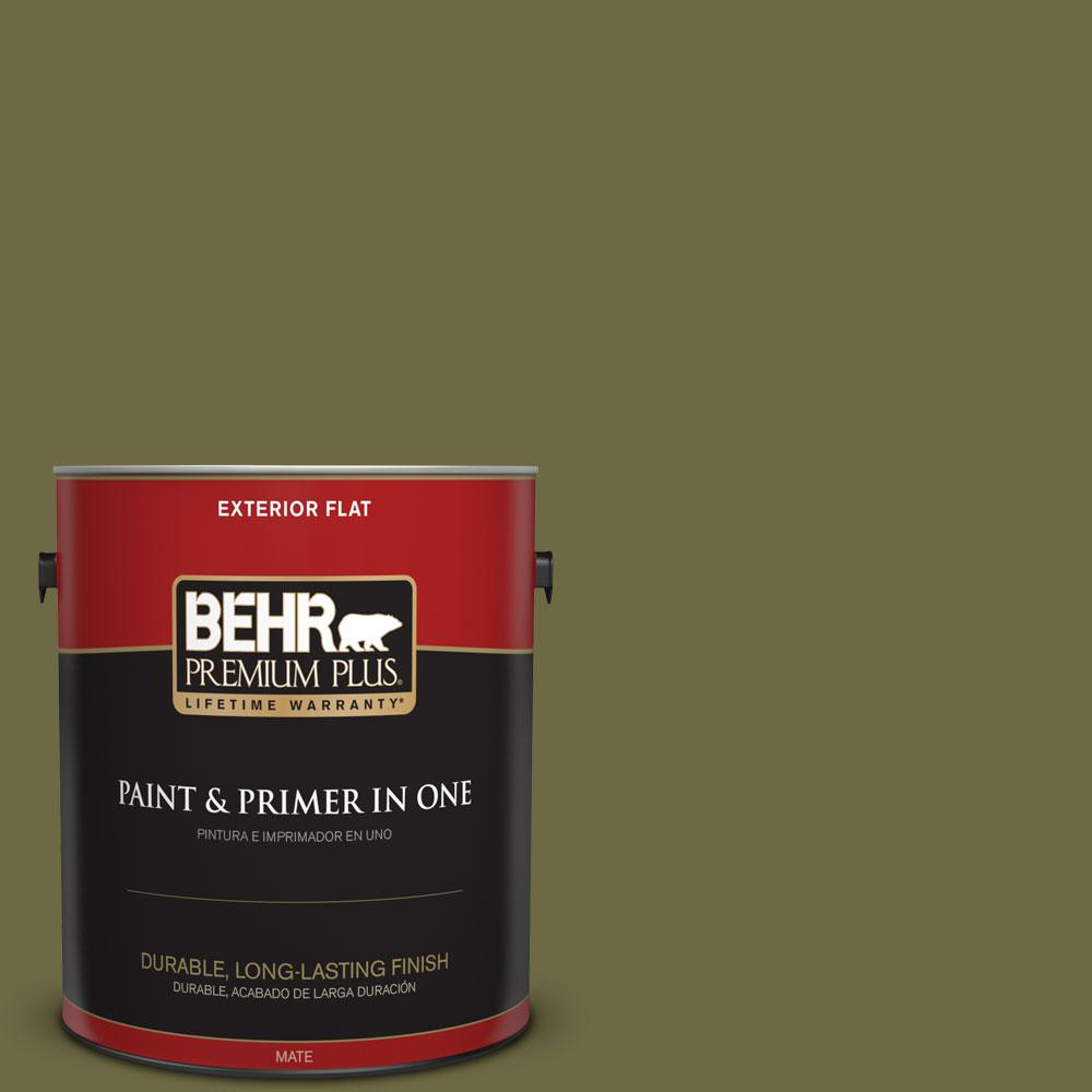 Home Decorators Collection 1-gal. #HDC-CL-20 Portsmouth Olive Flat Exterior Paint